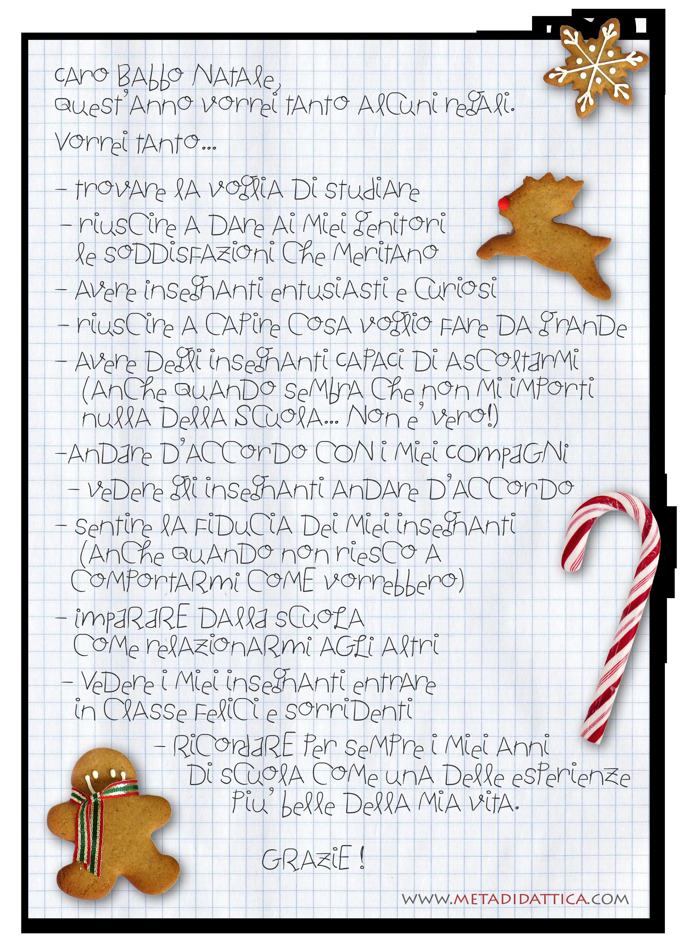 Le Lettere Di Babbo Natale.Lettera Di Uno Studente A Babbo Natale Quest Anno Vorrei